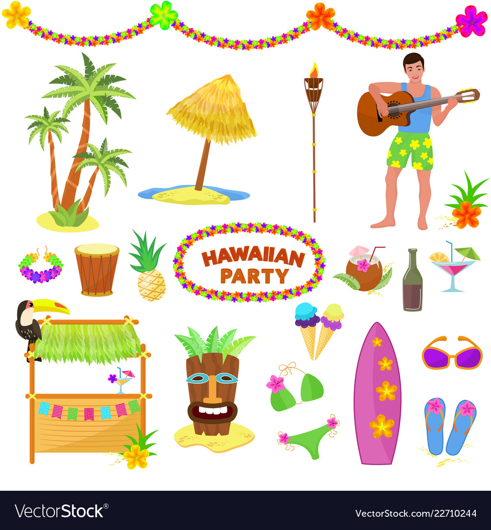 Hawaii party woman or man characterr on