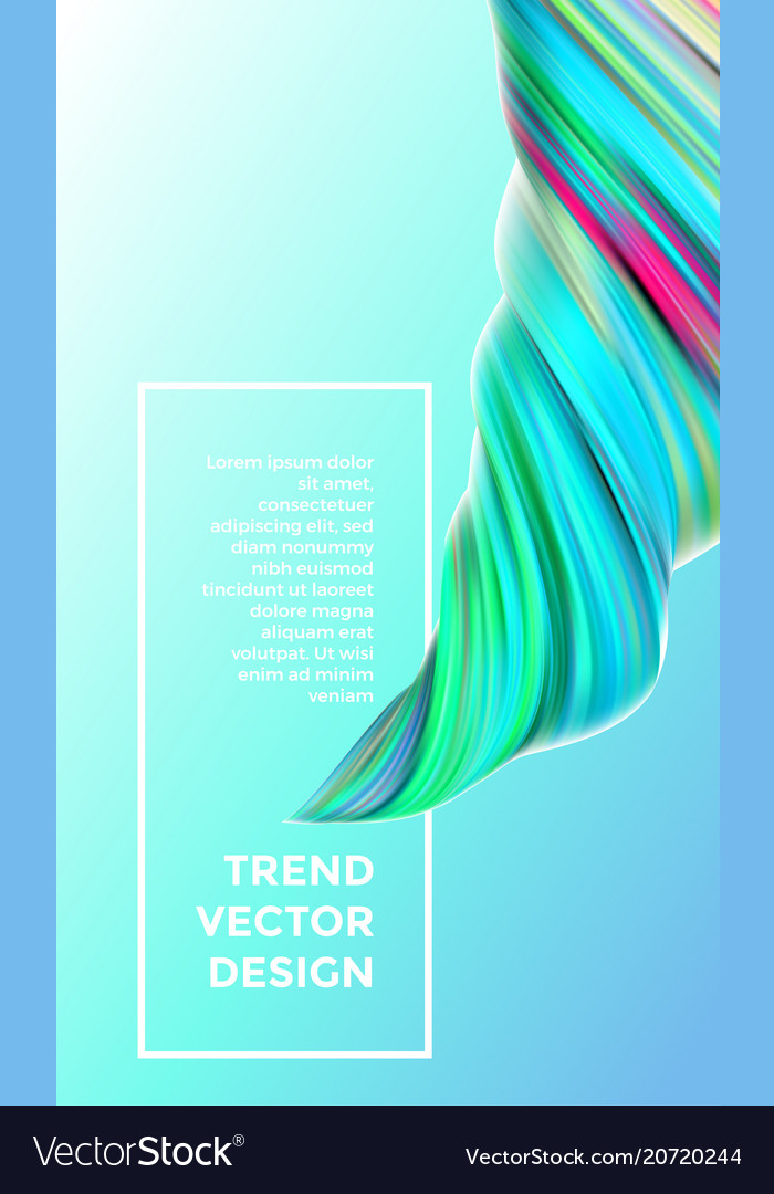 modern digital painting abstract background vector image