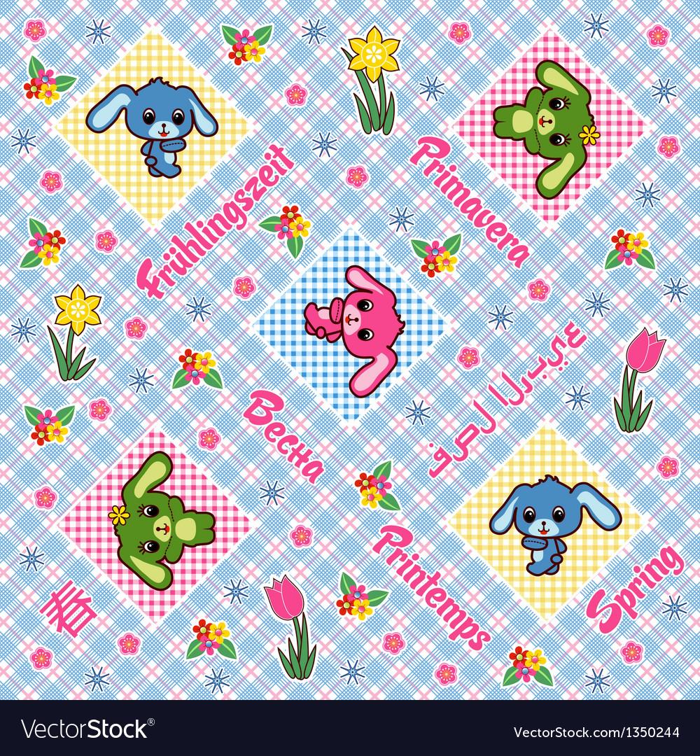 Seamless plaid pattern vector image