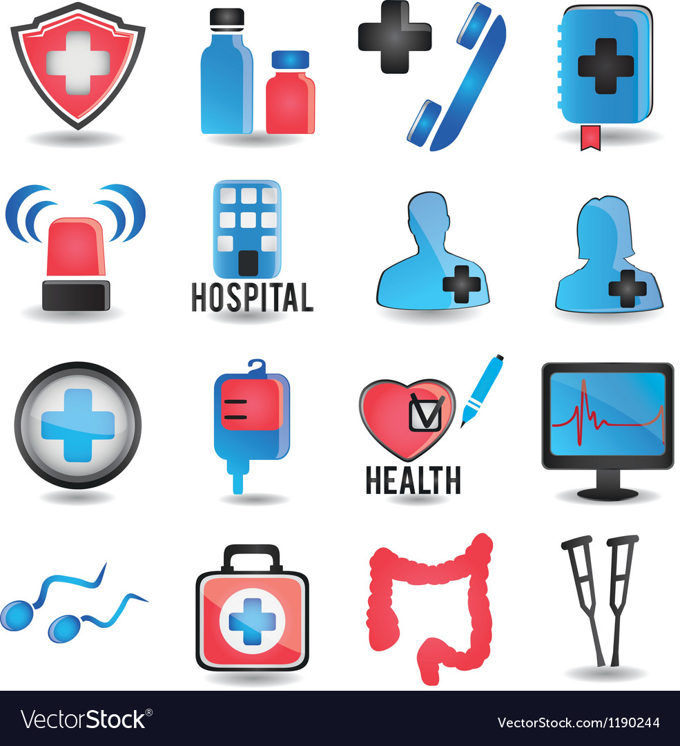 Set of medicine icons - part 1