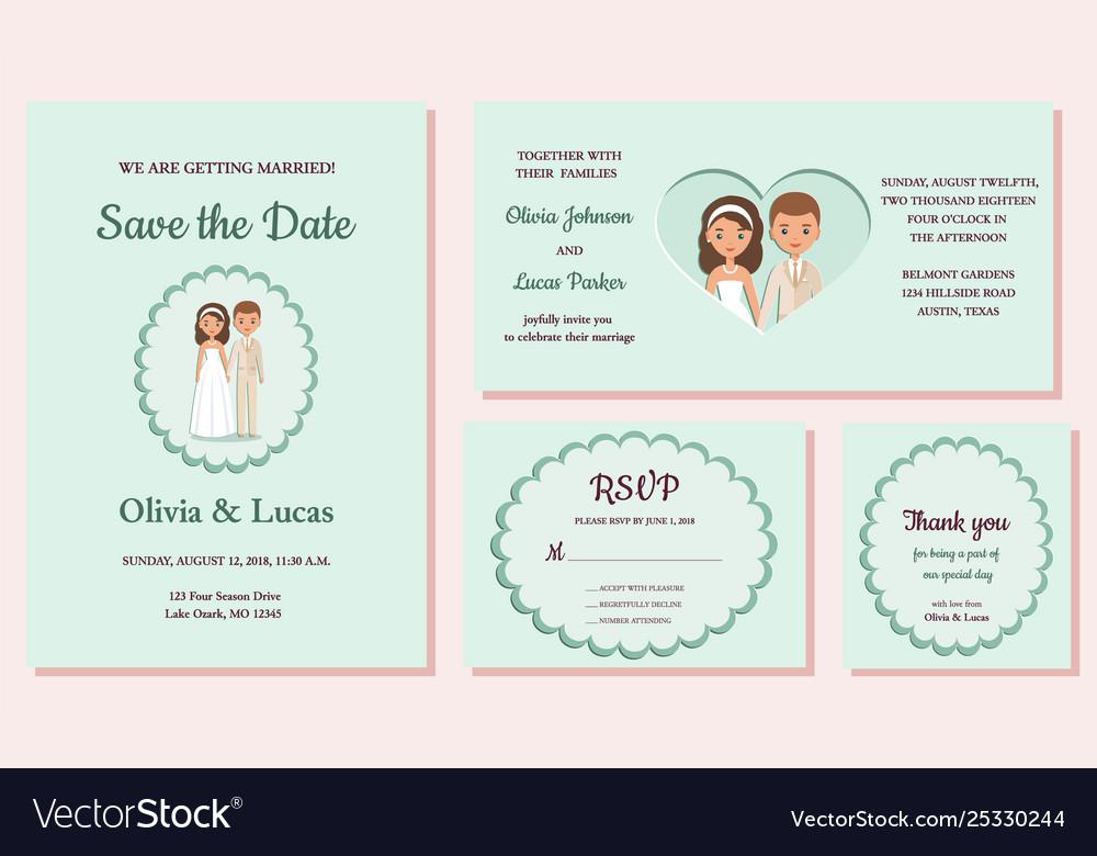 Wedding Invitation Templates Greeting Cards