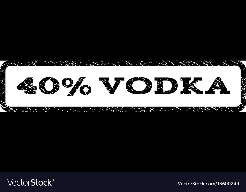 40 percent vodka watermark stamp