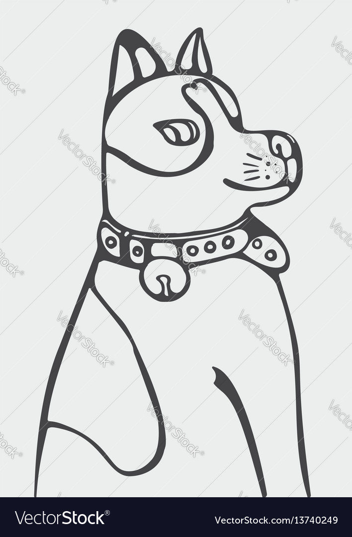 Abstract of cartoon dog vector image