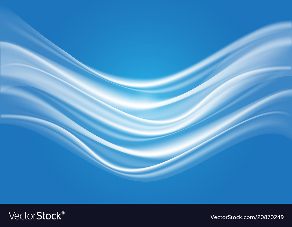 Abstract white wave soft on blue light design mode vector image