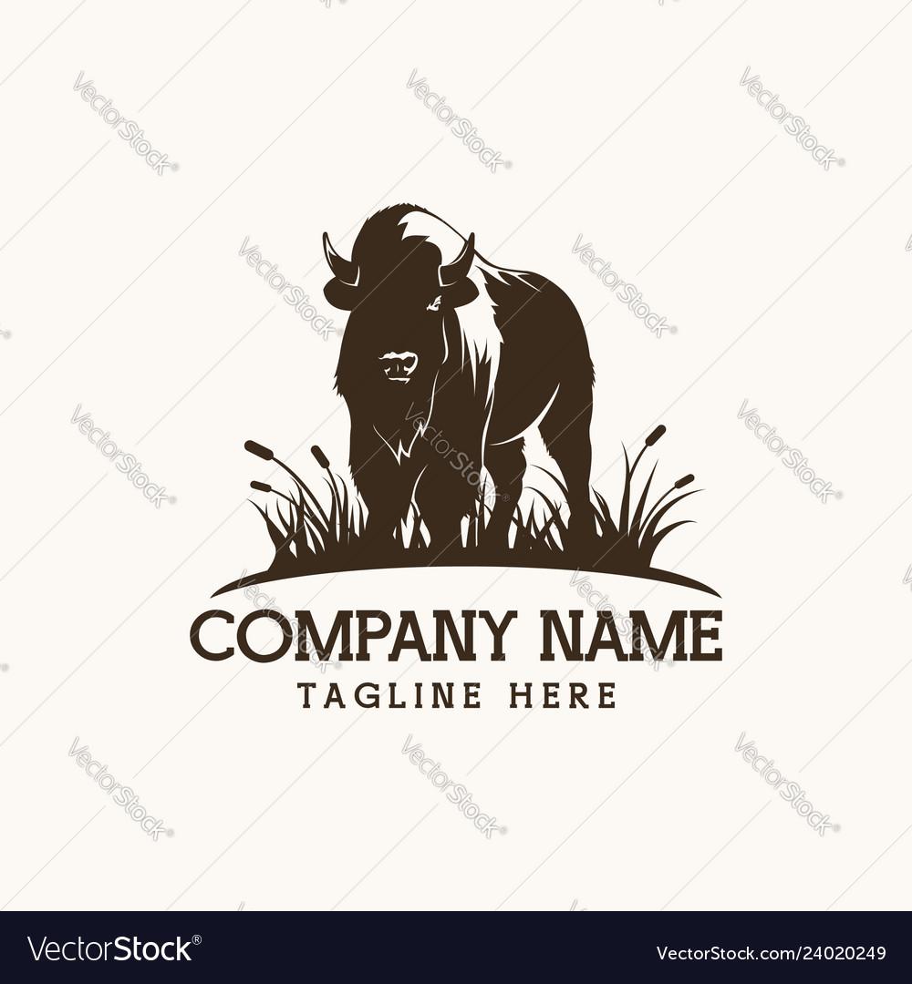 Bison logo farm design