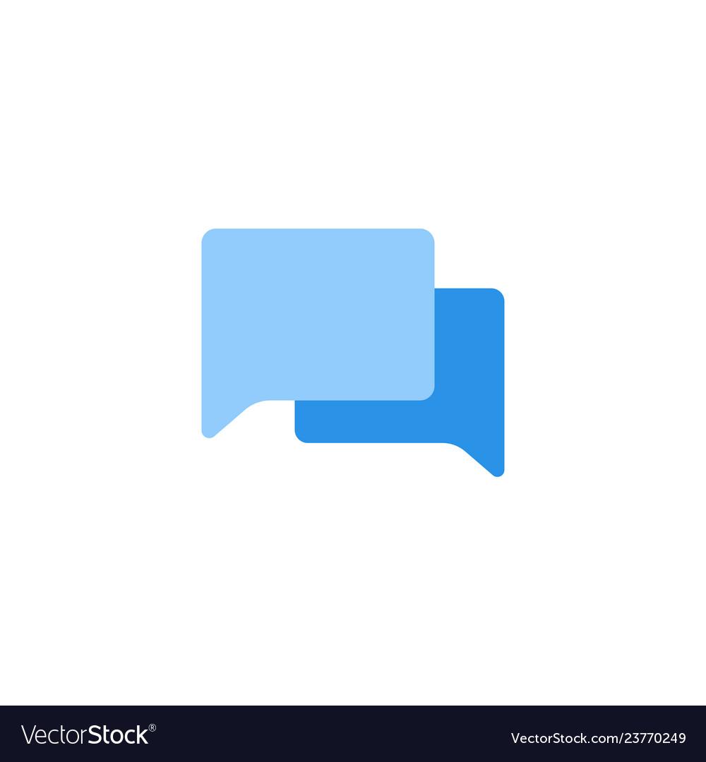 Chat icon blue monochrome color