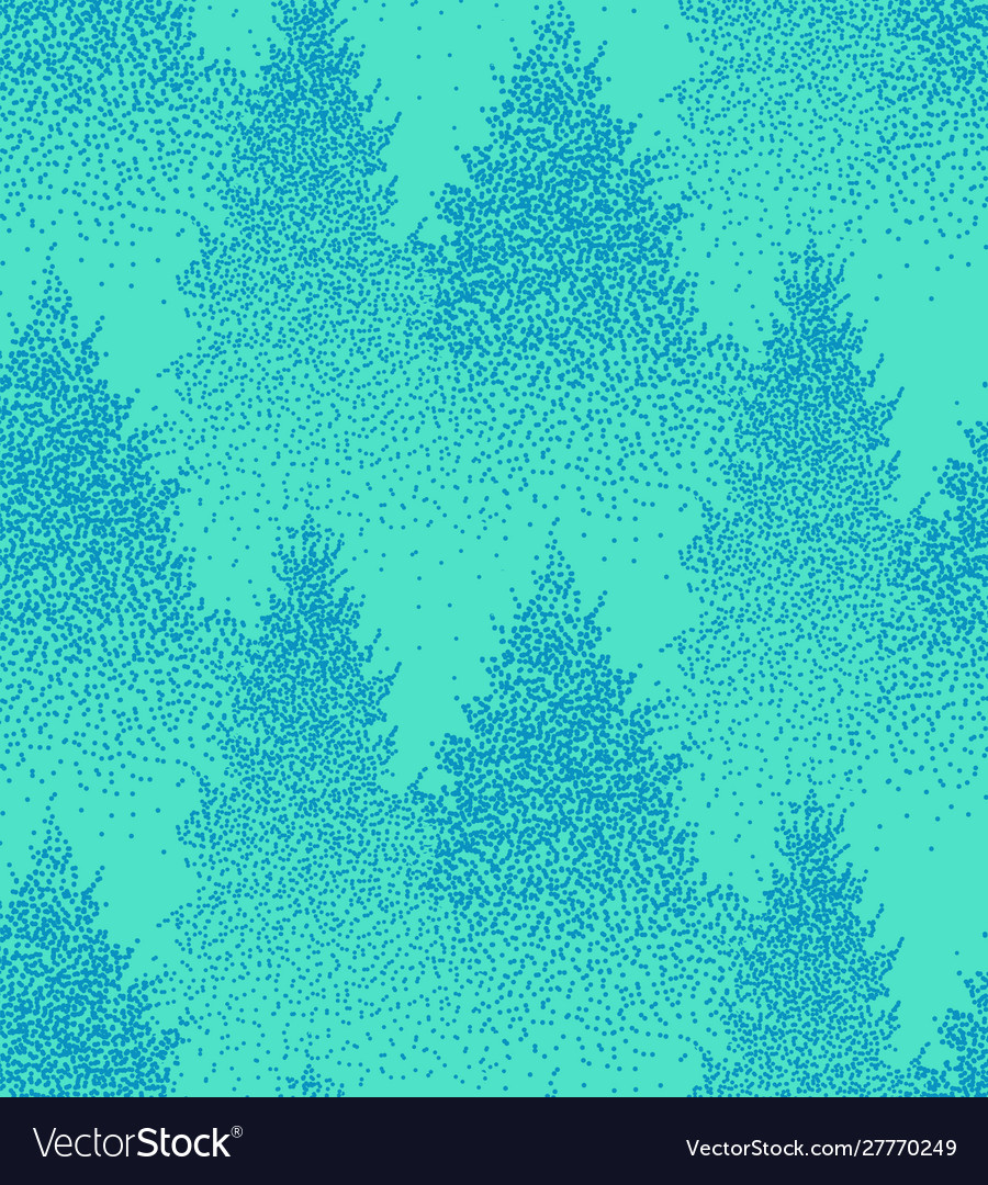 Christmas seamless pattern with fir trees