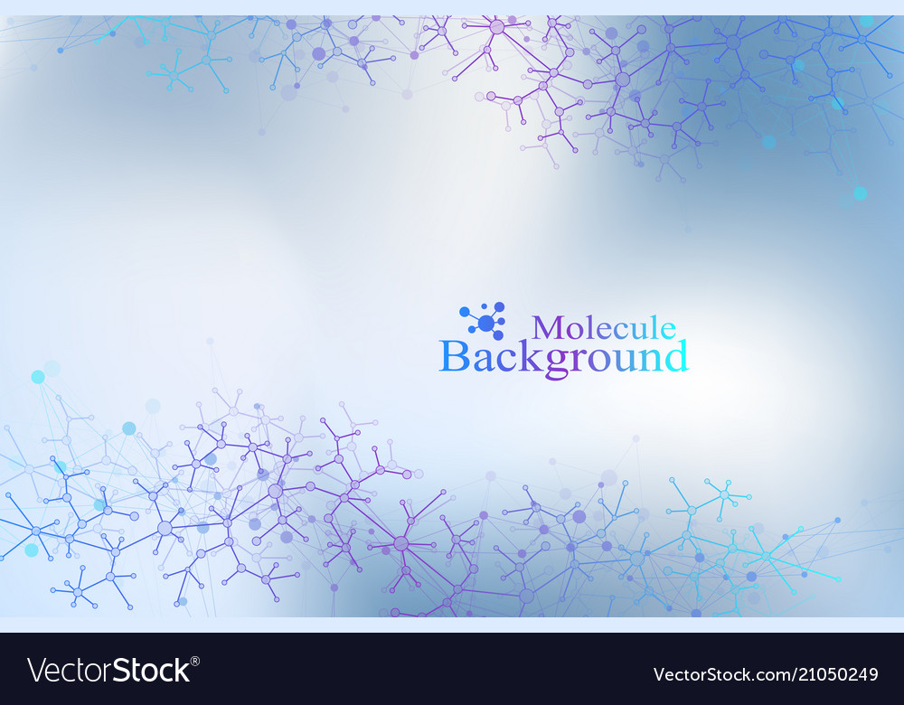 Colorful graphic background molecule and
