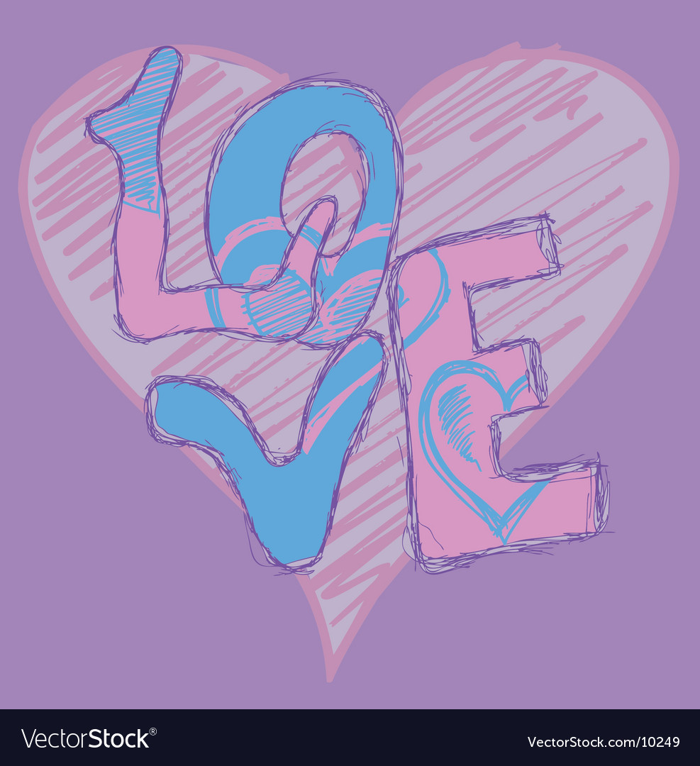 Graffiti Love Royalty Free Vector Image Vectorstock