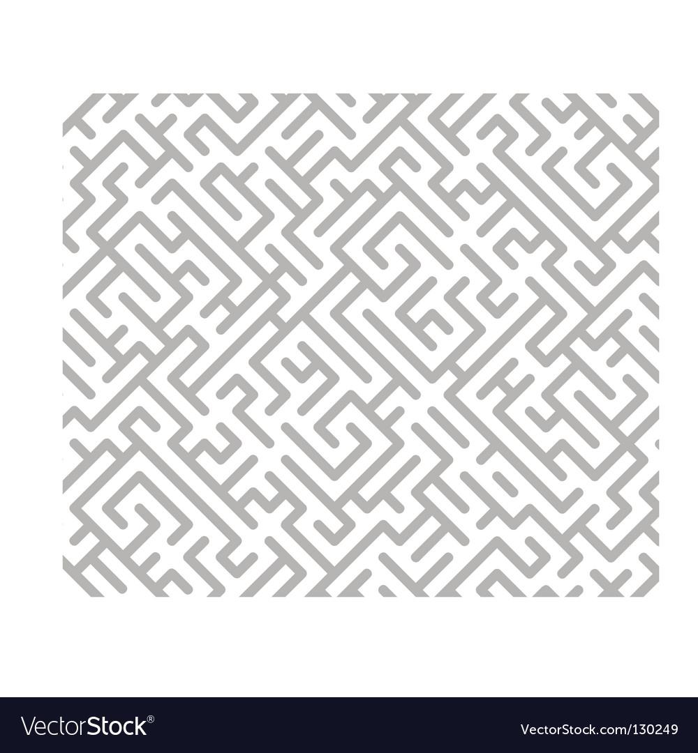 Maze background vector image