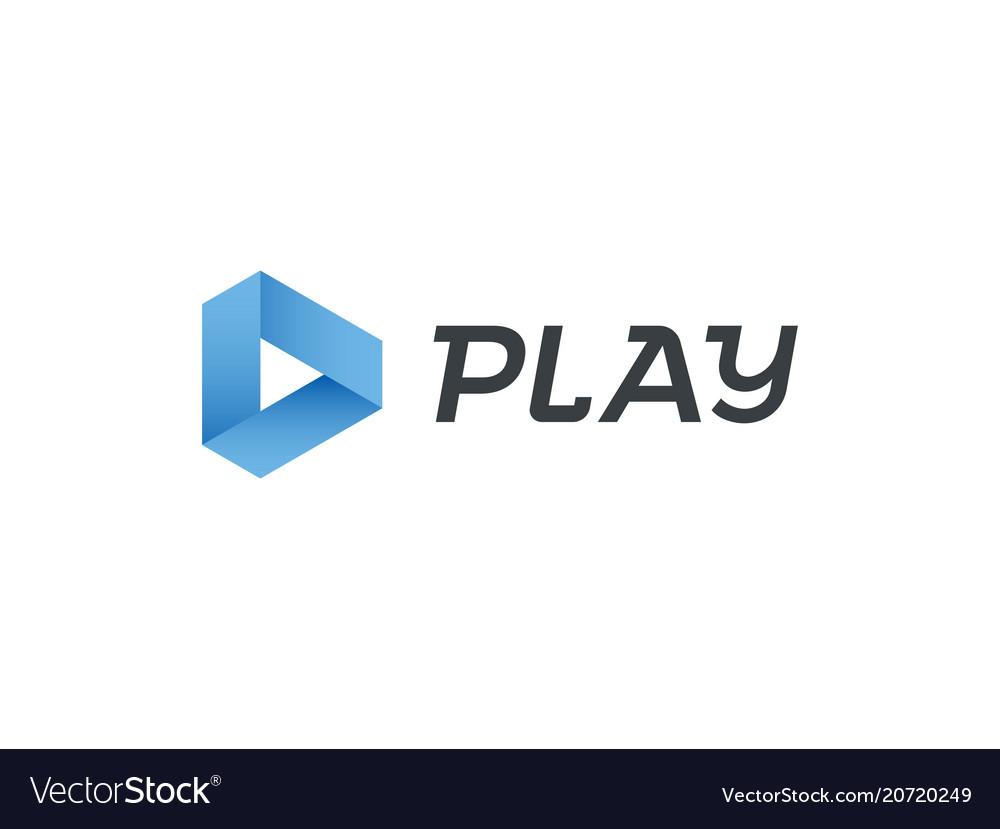 Play logo music digital video movie player