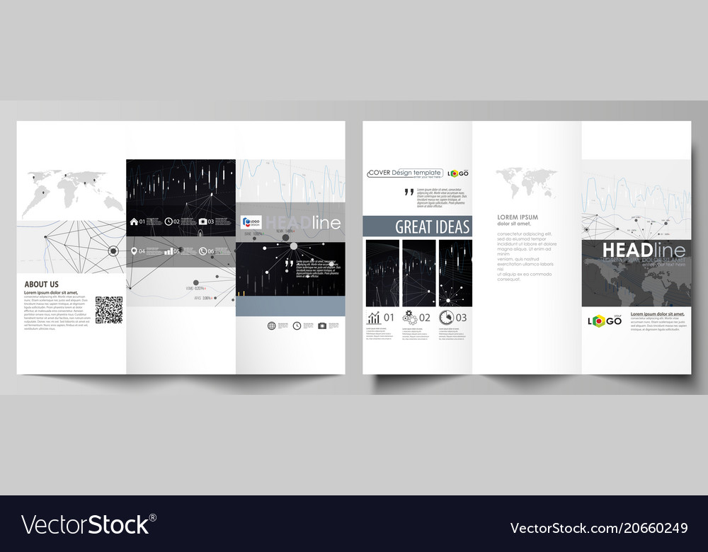tri fold brochure business templates easy vector image