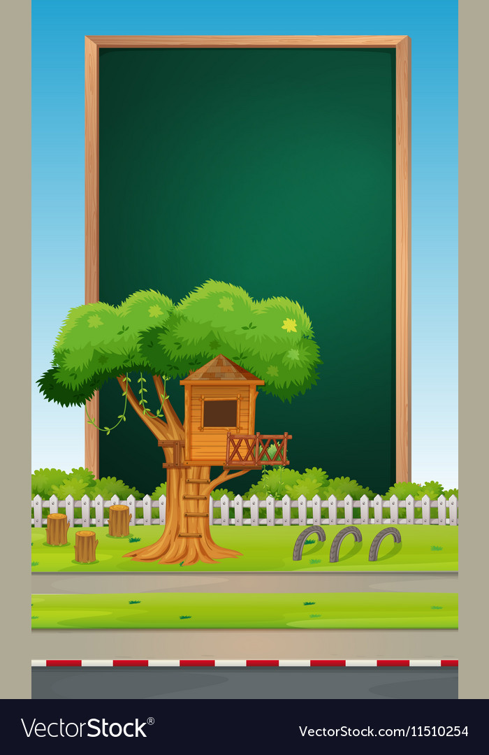 Board design with park background