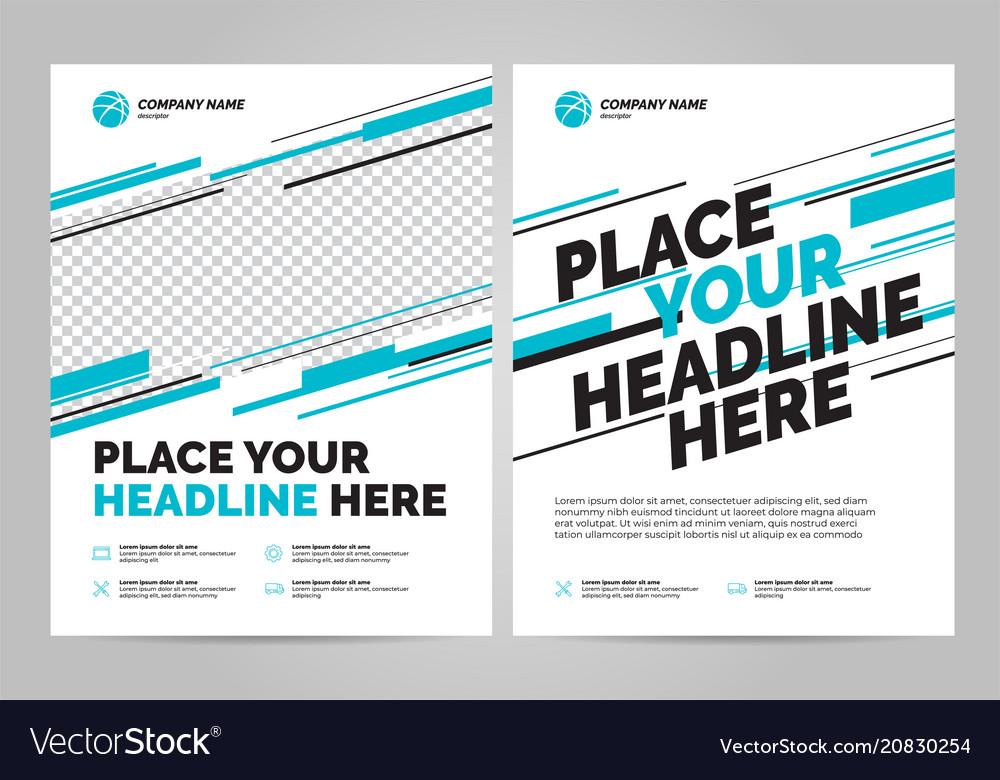 Brochure layout templat design