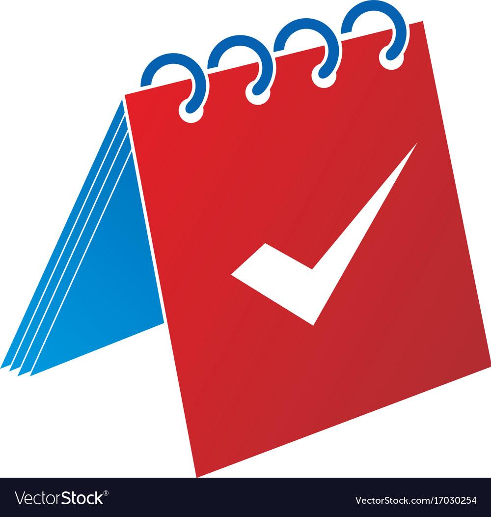 Calendar check icon logo