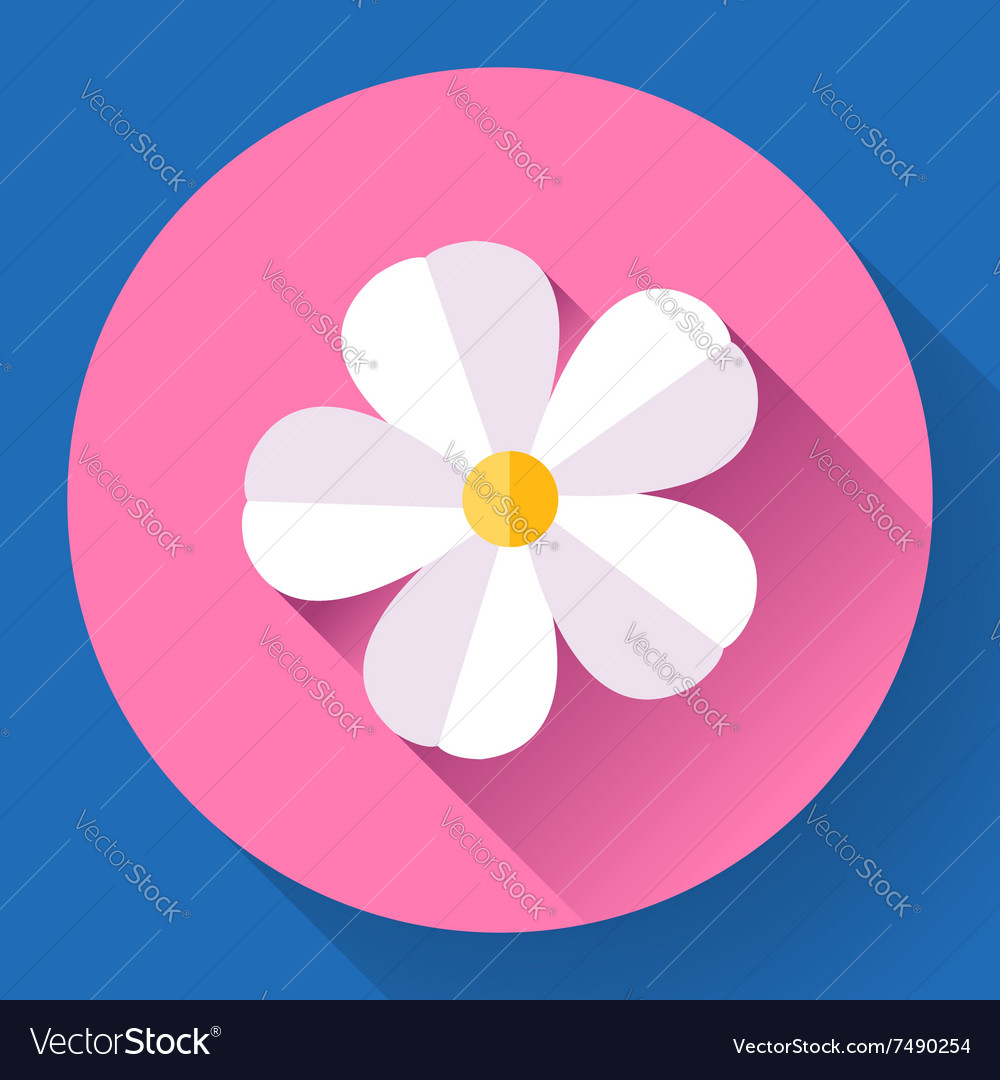 Frangipani flower icon Nature symbol
