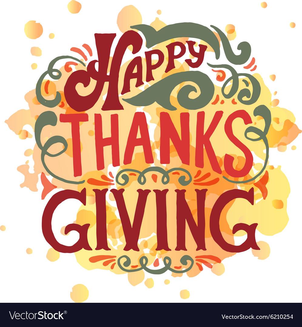 happy thanksgiving icon logo or badge royalty free vector
