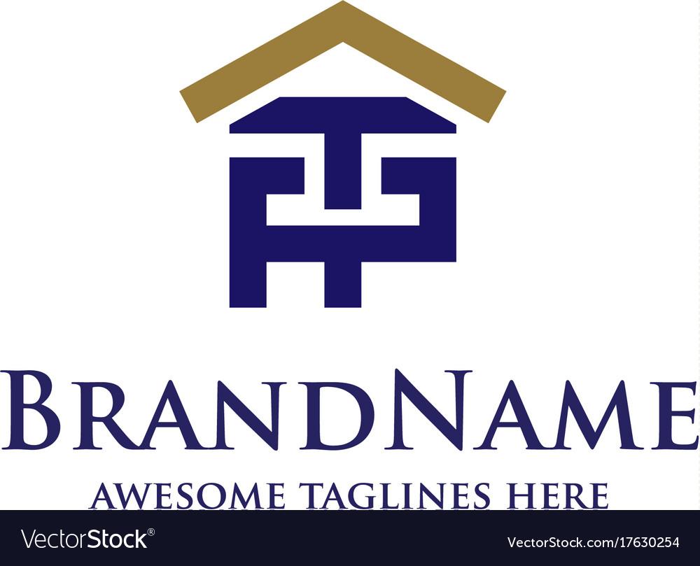 Letter pt real estate logo