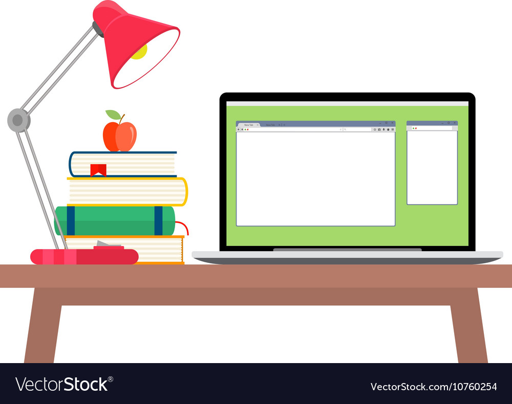 Online education flat horizontal banner set with
