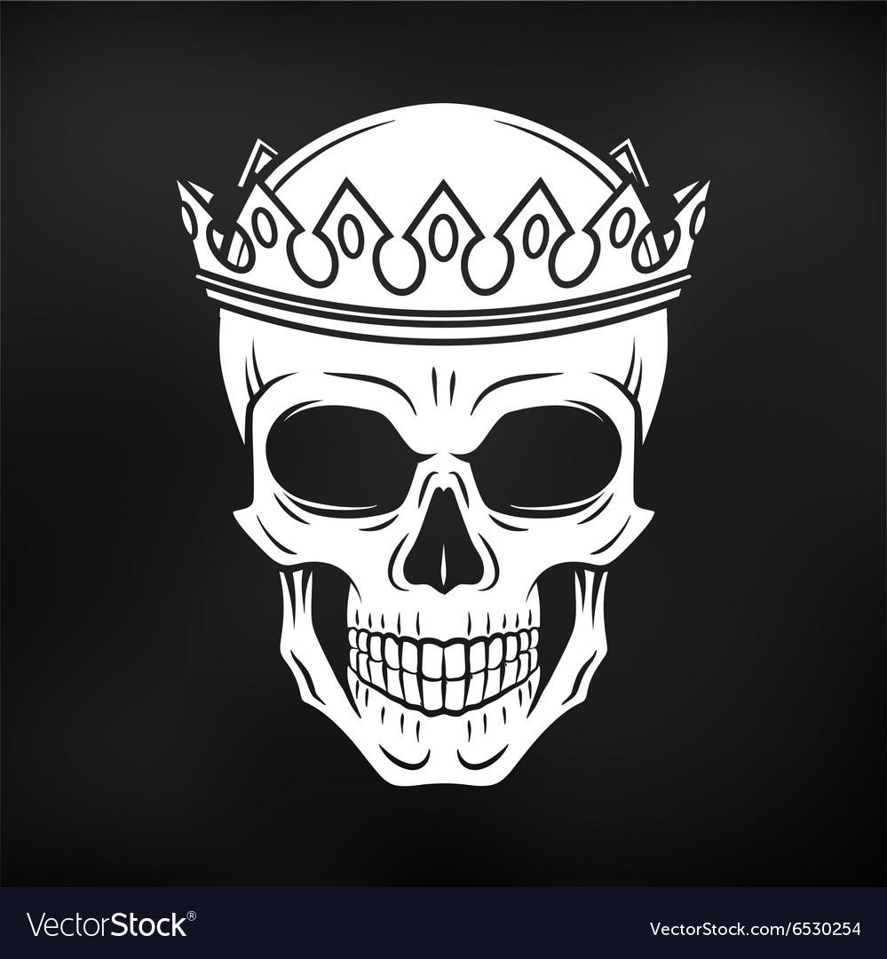 Skull King Crown design element on black