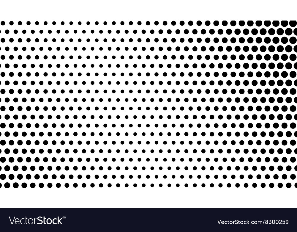 Abstract halftone dots background vector image