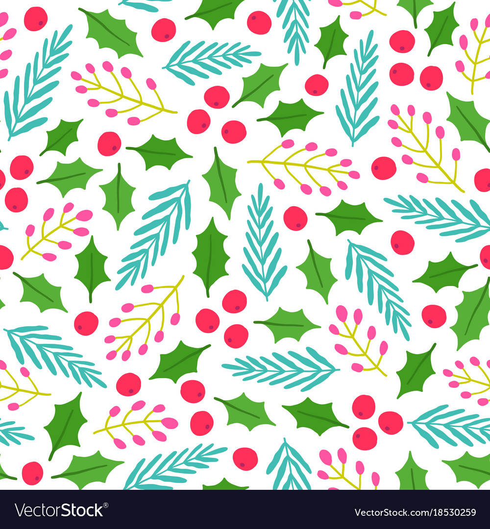 Christmas Backgrounds Cute.Cute Floral Christmas Background