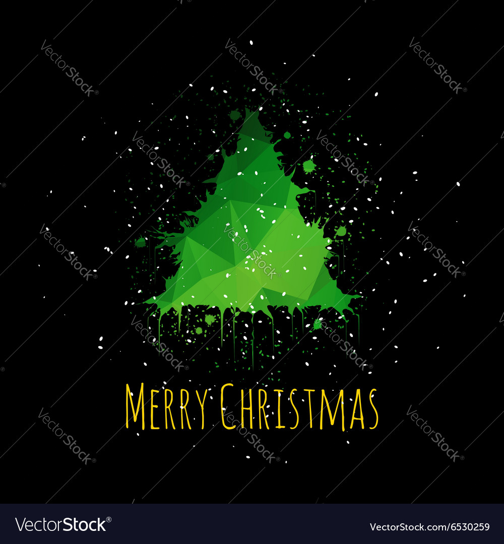 Grunge Christmas Greeting Card vector image