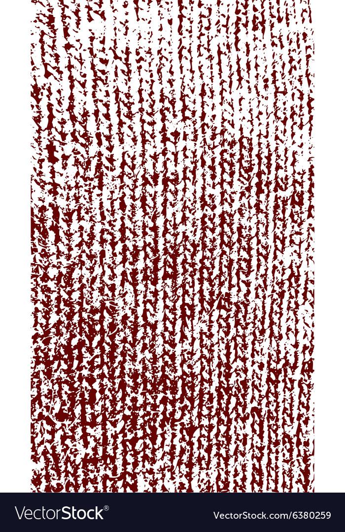 Knitted woolen texture dark red vector image