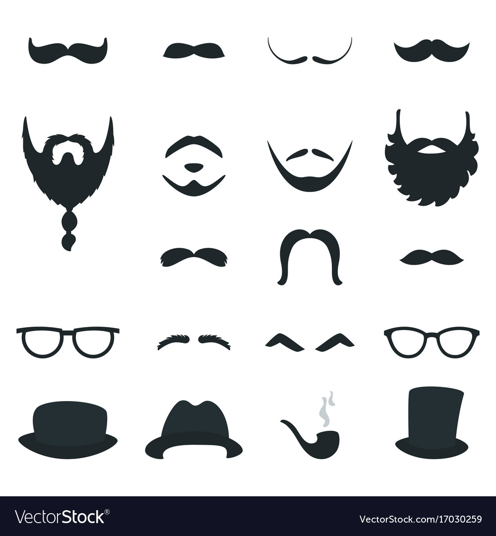 Mens beard and moustache styles props