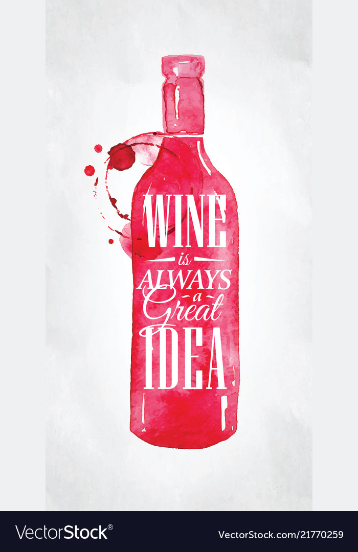 Poster wine is good idea