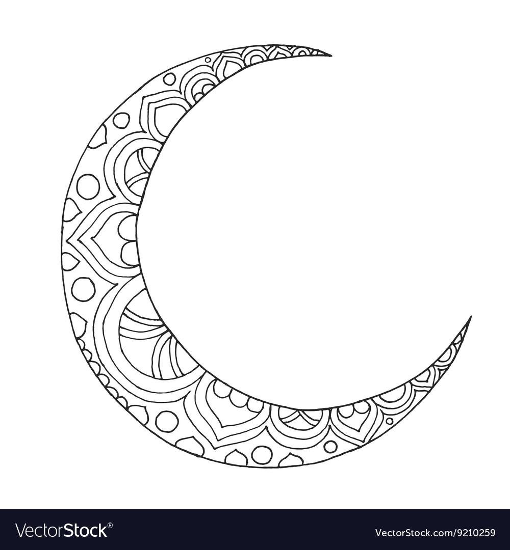 ramadan kareem half moon royalty free vector image vectorstock