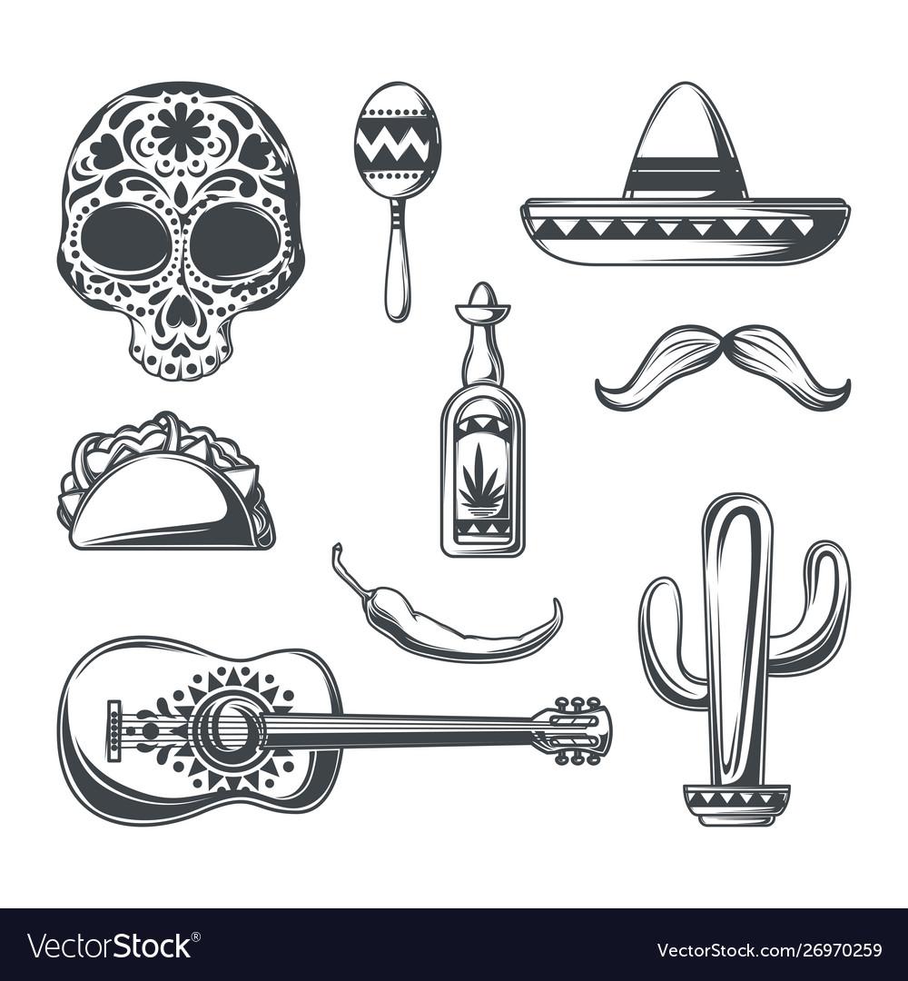 Set mexican elements