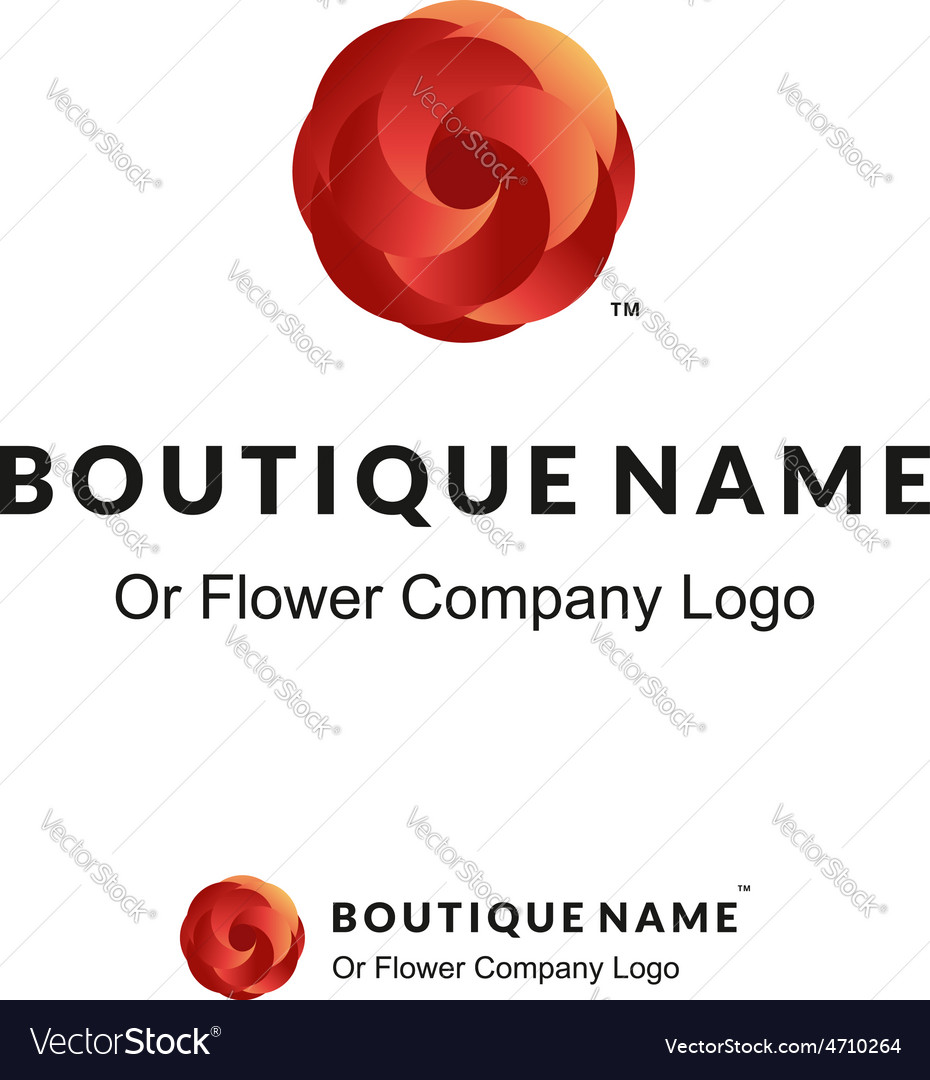 Beautiful Logo with Red Flower for Boutique or