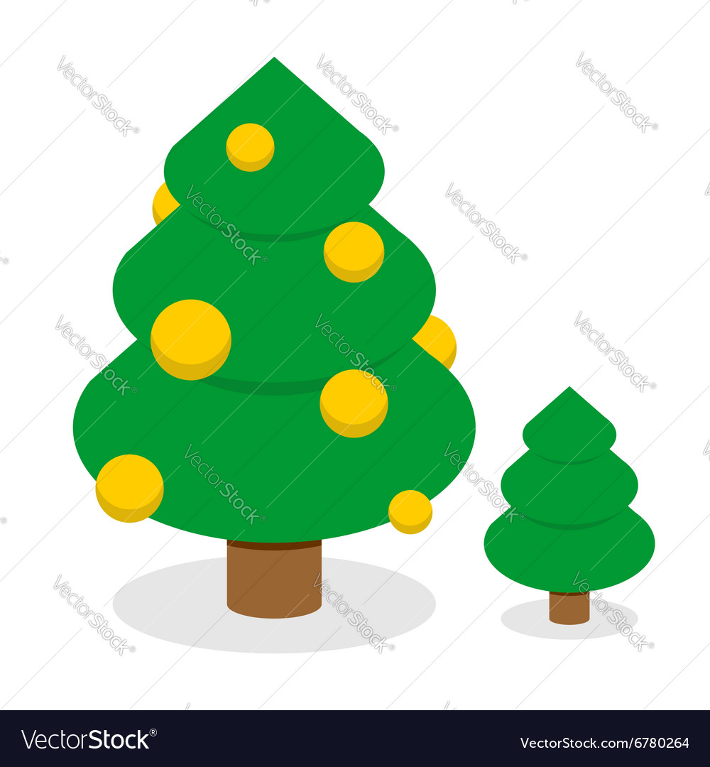 Christmas tree with gold balls Decorated Holiday