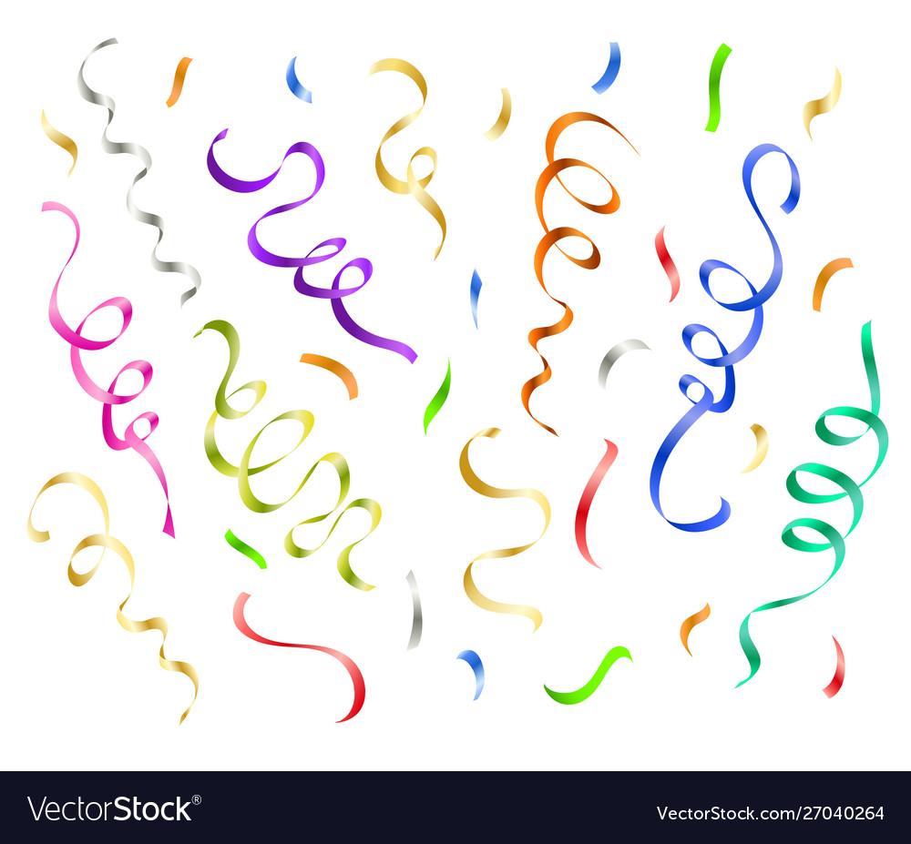 Festive colorful confetti party decoration