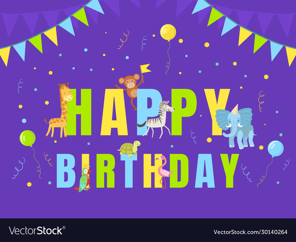 Happy birthday party banner template invitation