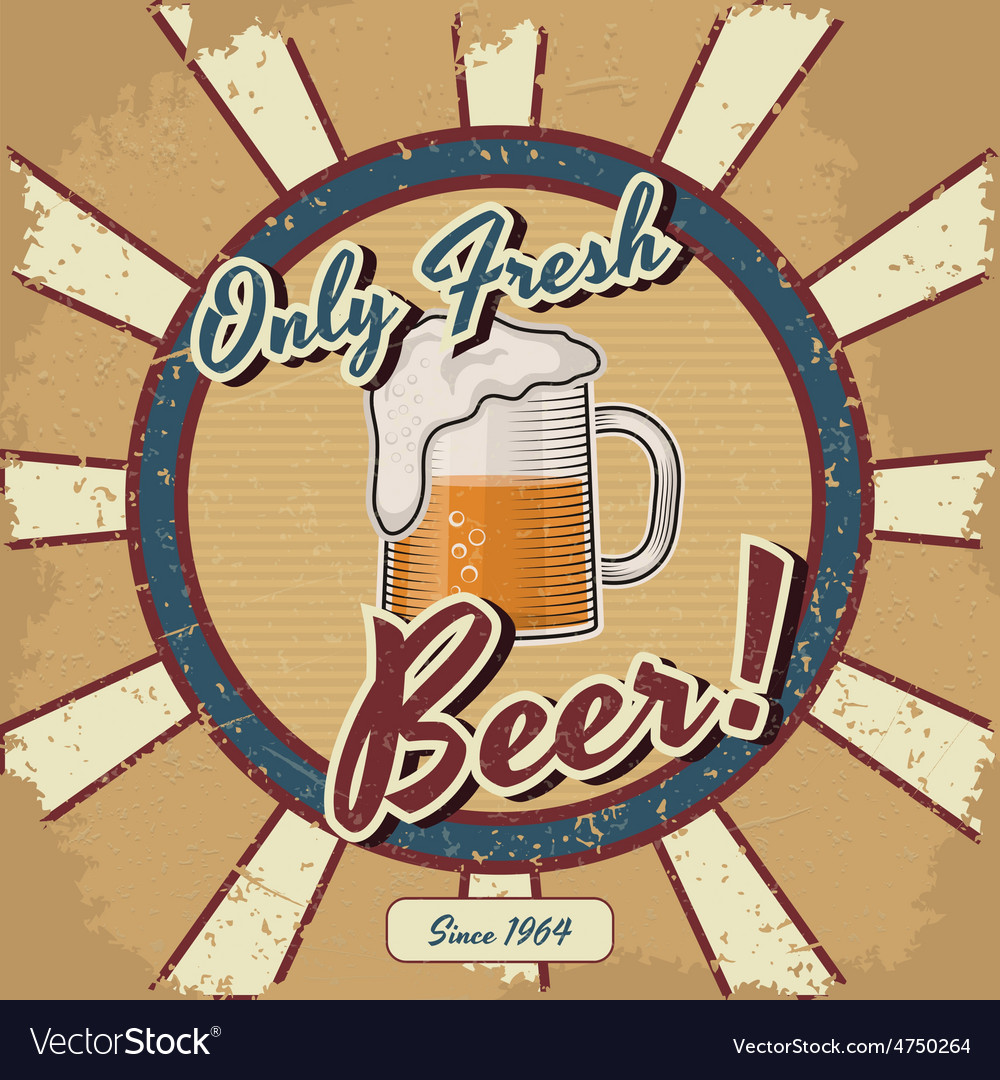 Retro beer poster Vintage poster template