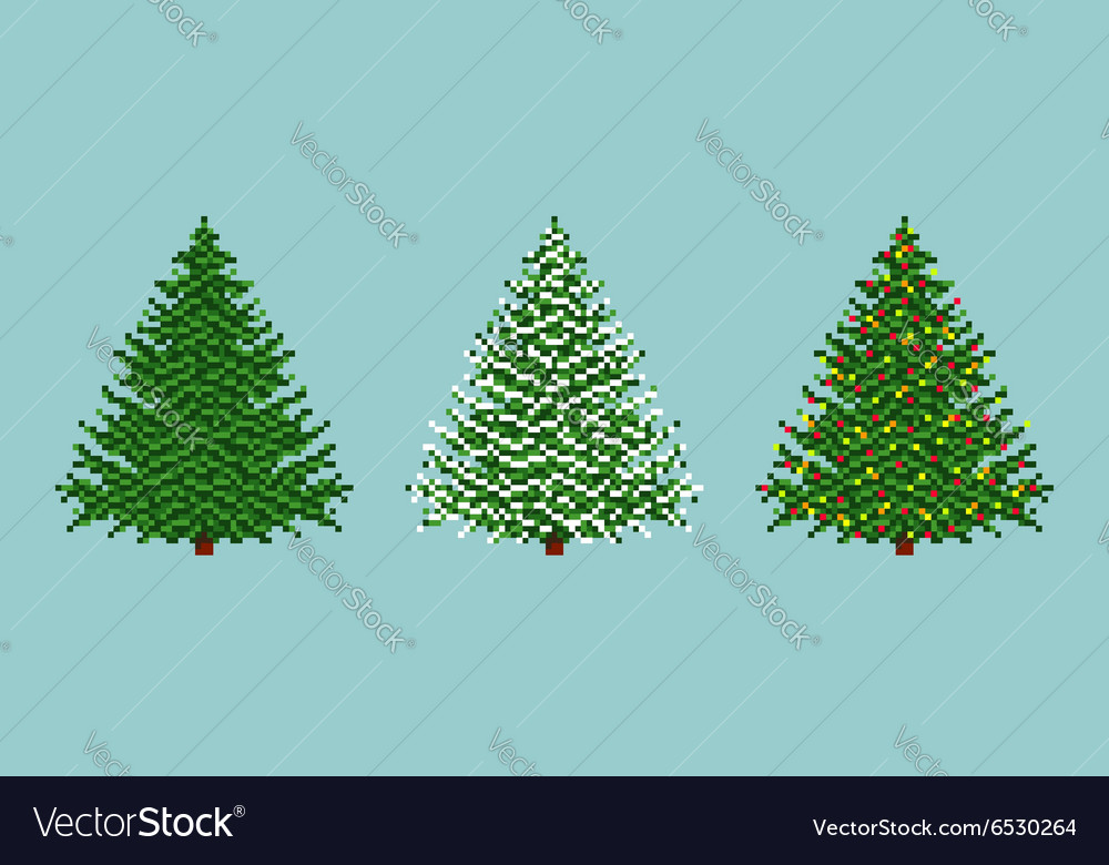 Spruces Set vector image