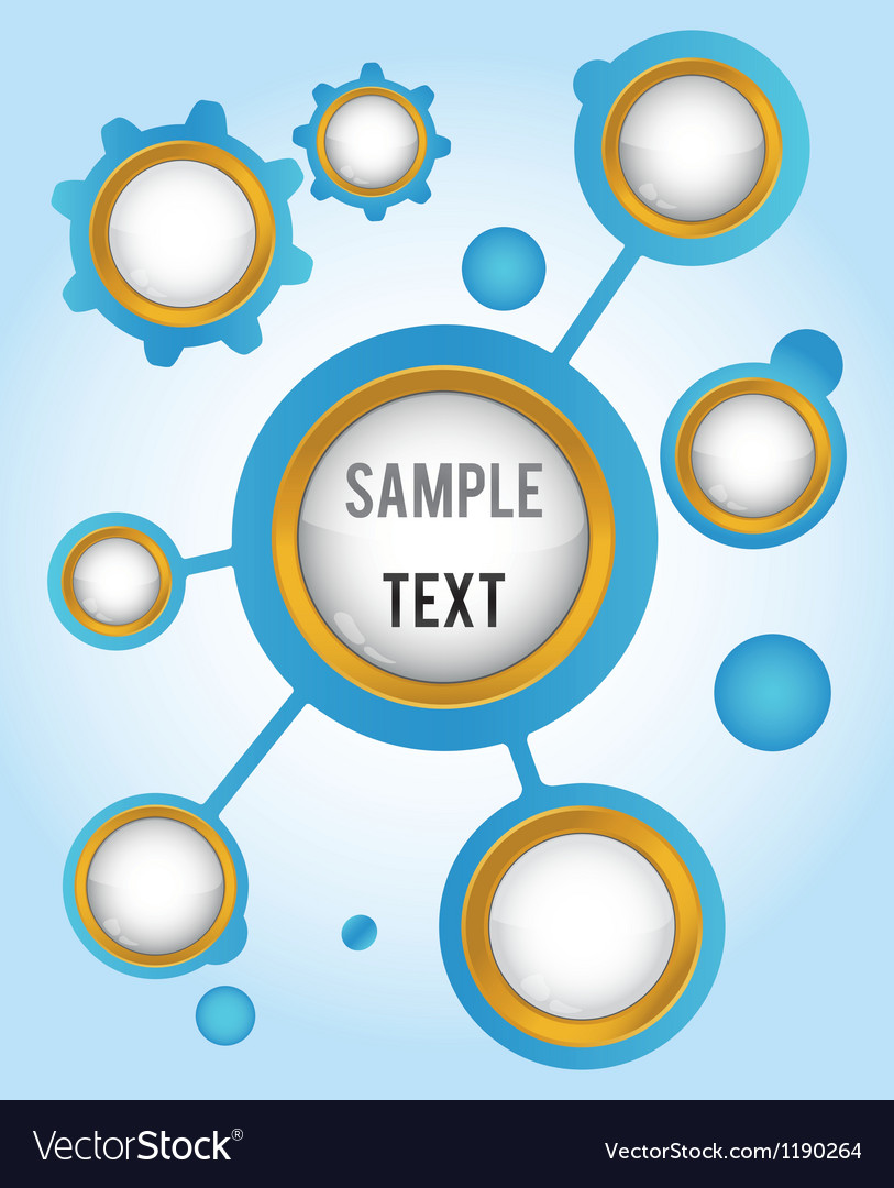 Template with buttons for icons symbol and text vector image