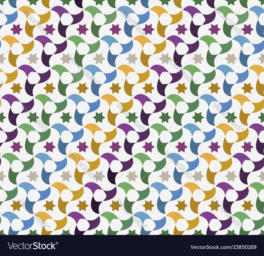 Arab tiles mosaic background