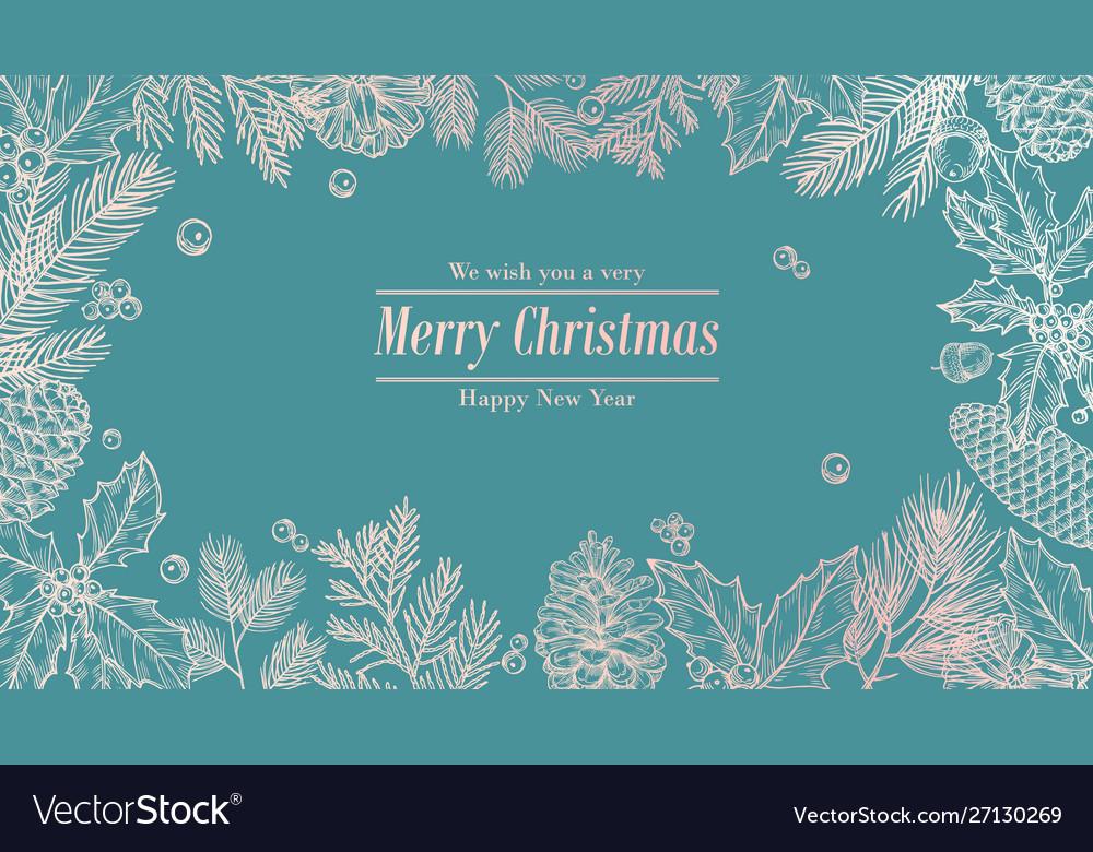 Christmas card holidays background invitation