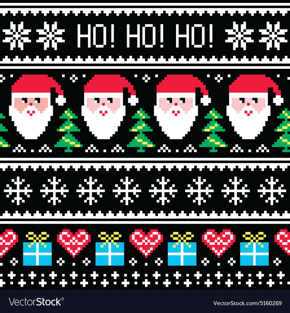 Christmas Sweater Pattern.Christmas Jumper Or Sweater Seamless Pattern
