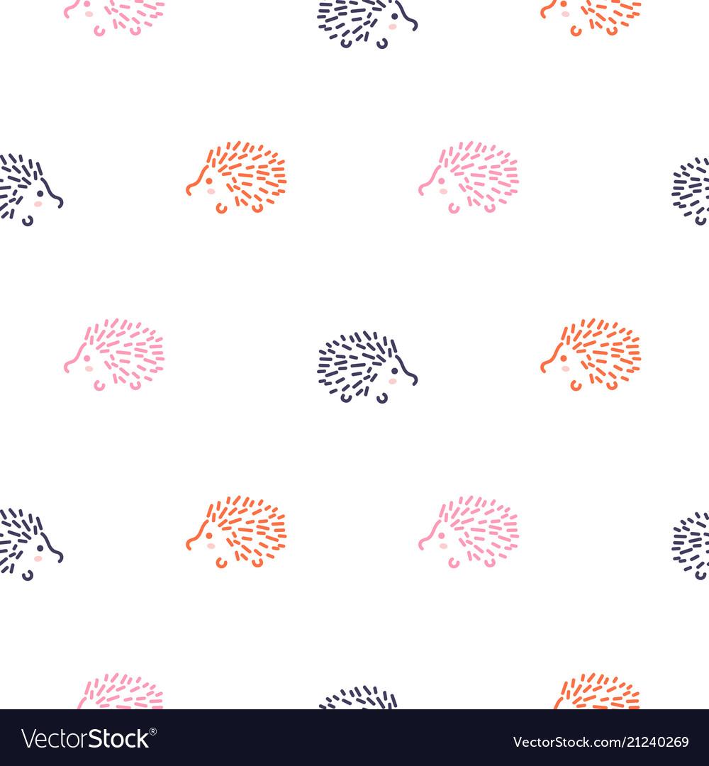 Cute bahedgehogs seamless pattern