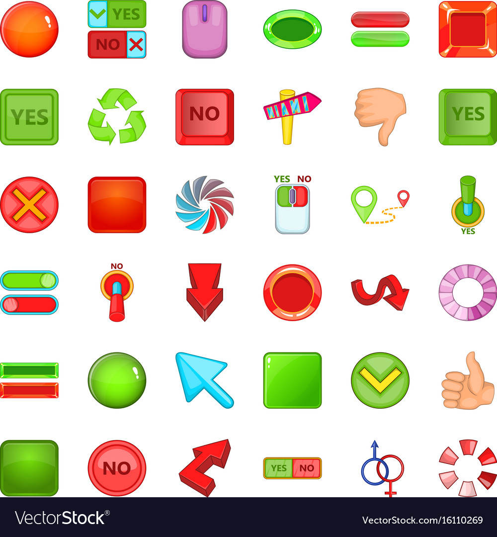 Download arrow icons set cartoon style