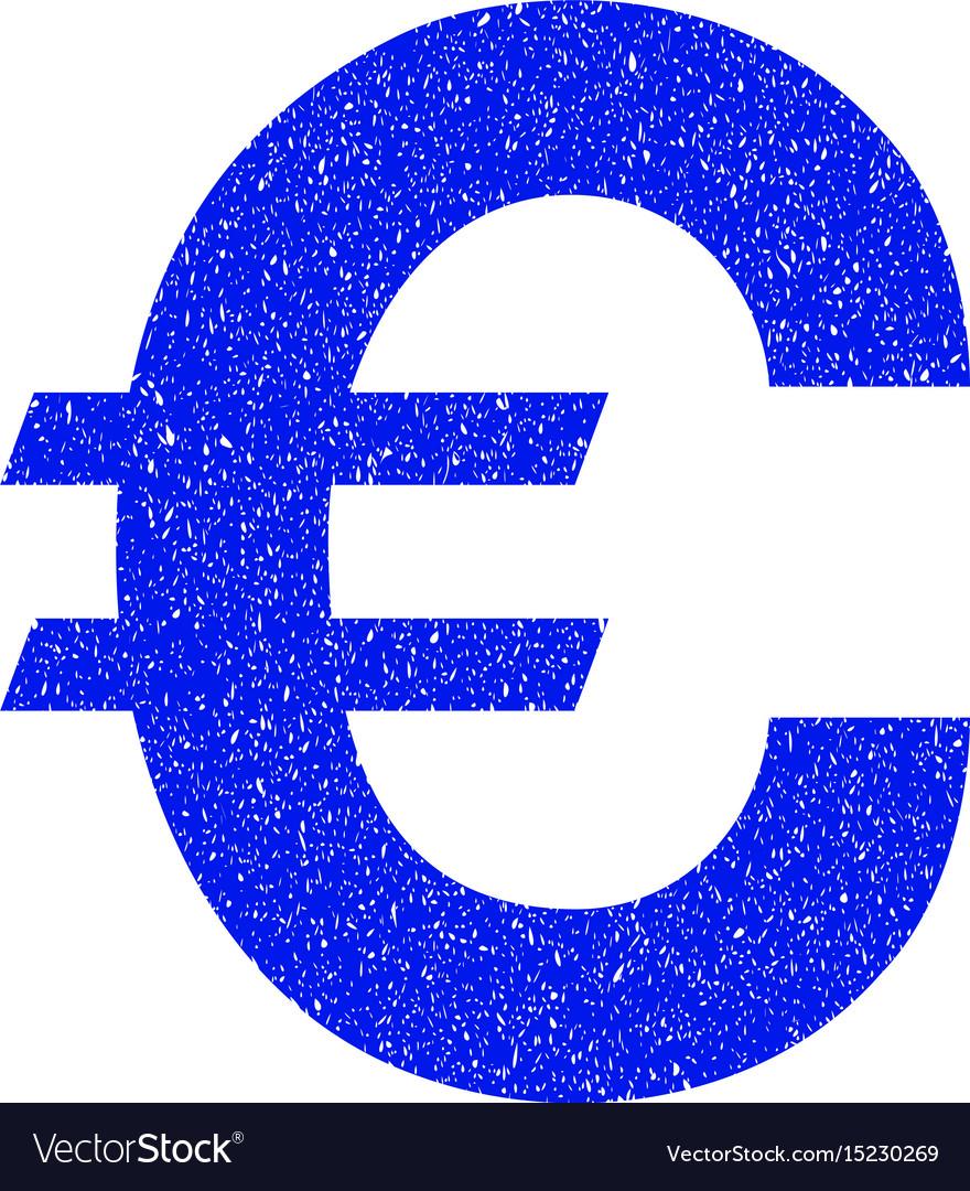 Euro symbol grunge icon