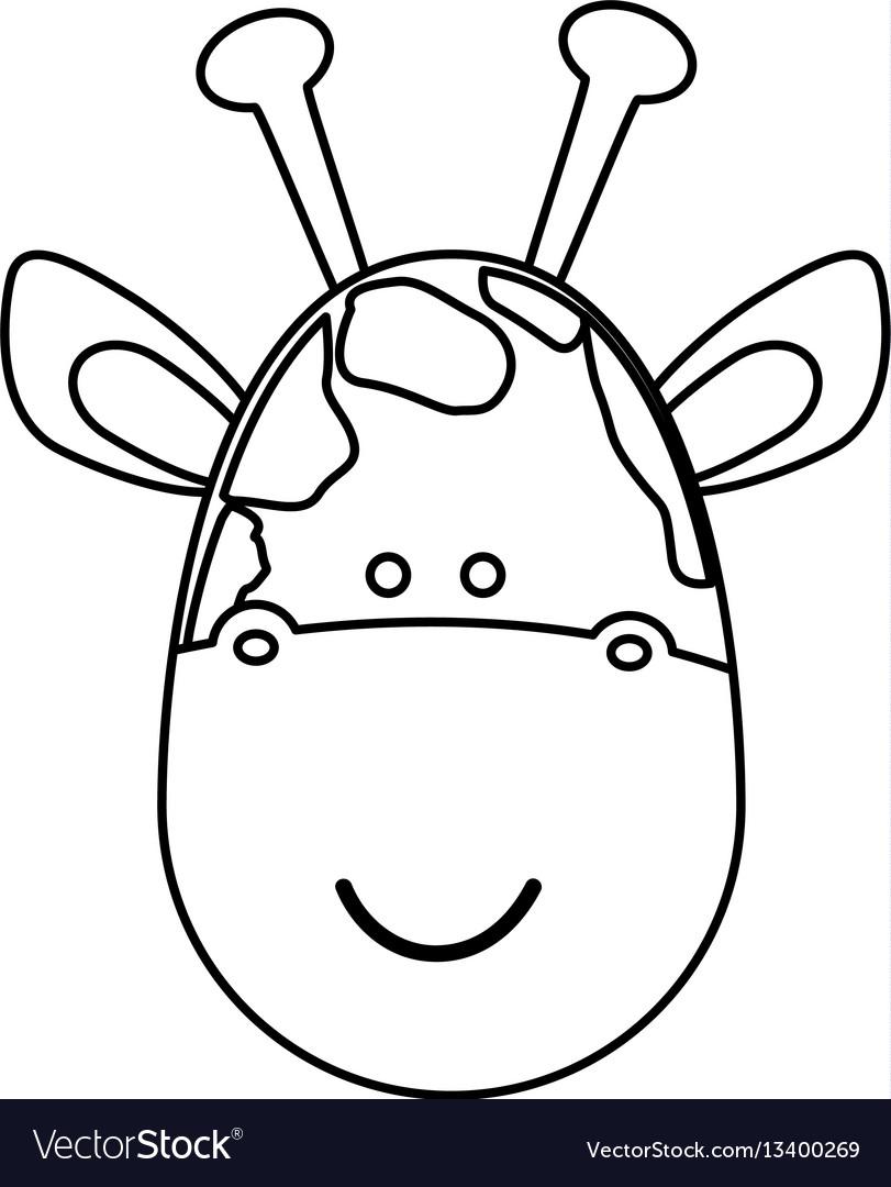 Figure face giraffe icon vector image