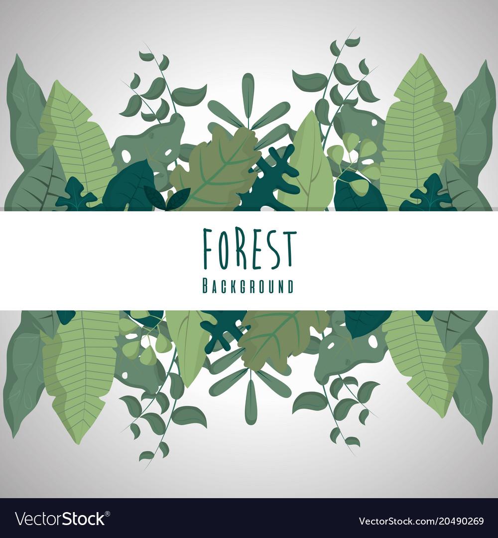 Forest blank frame