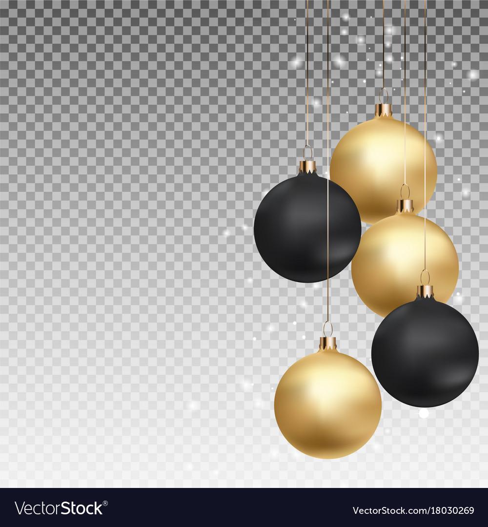 Black Christmas Balls.Gold And Black Christmas Ball With Ball On