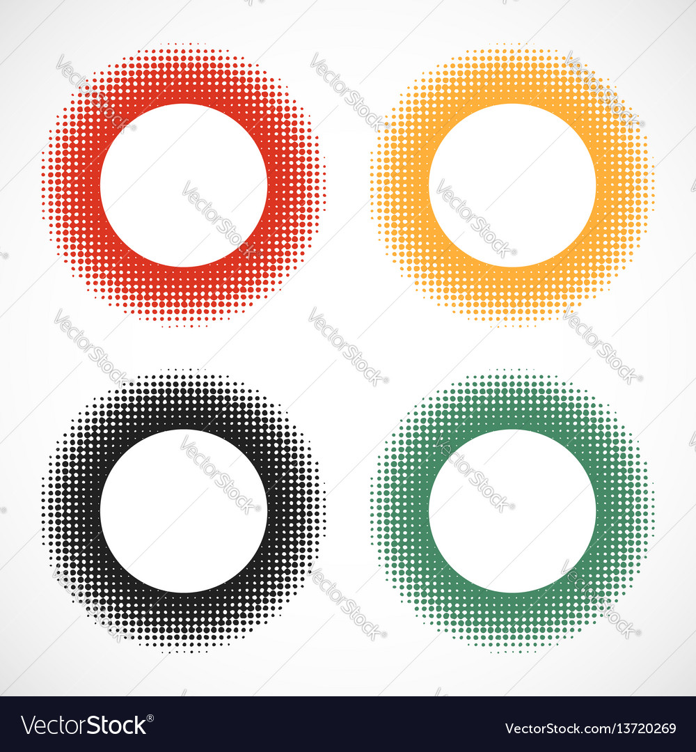 Halftone round dots stamp