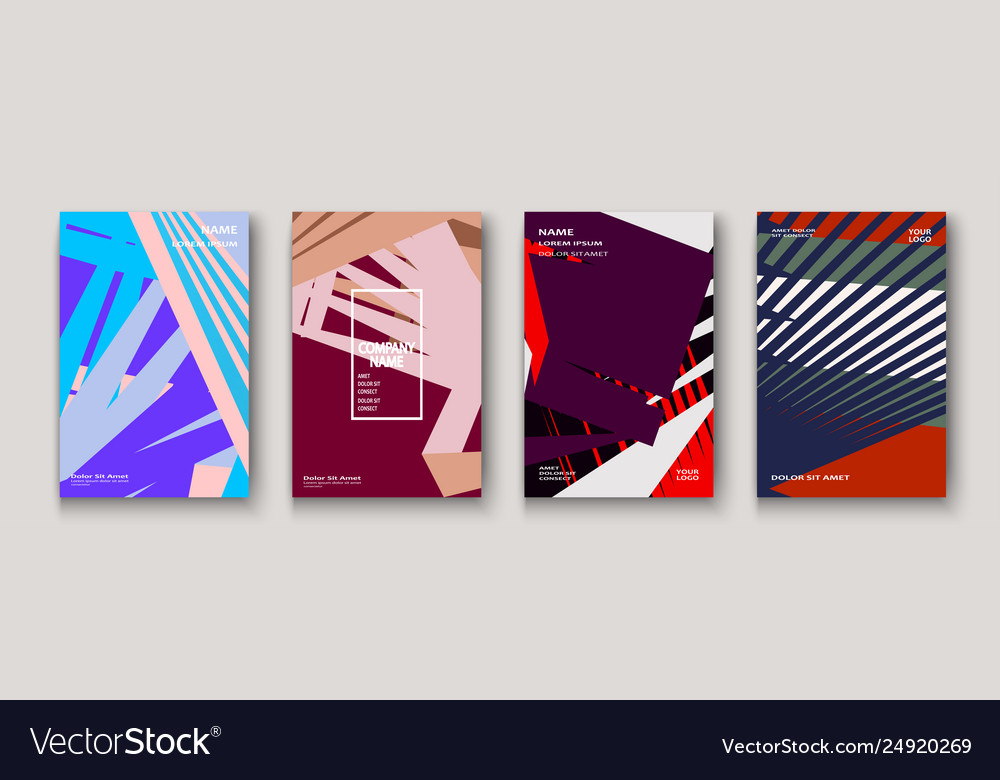 Minimal modern cover collection design dynamic